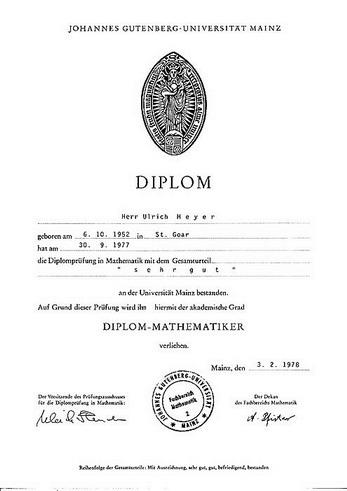 Lebenslauf von Dipl.Math.& Apotheker Ulrich Meyer